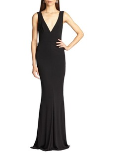 ABS Jersey Deep V-Neck Gown