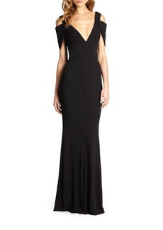 ABS Jersey Triangle-Sleeve Gown