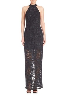 ABS Lace Halter Gown