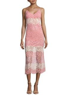 ABS Lace Midi Slip Dress