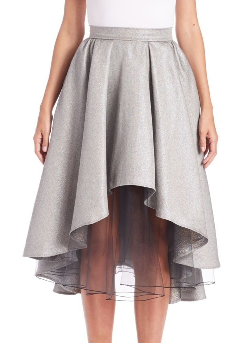 ABS Layered Metallic Hi-Lo Skirt