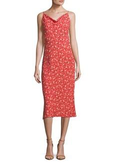 ABS Midi Floral Slip Dress