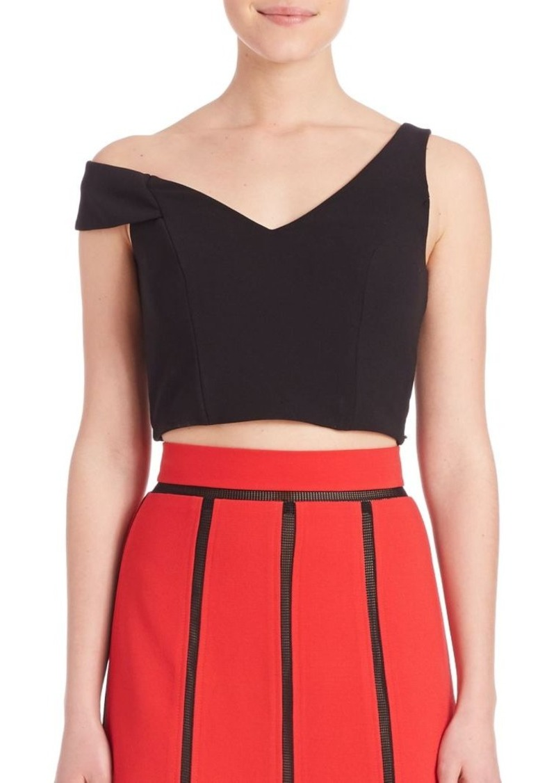 ABS One-Shoulder Cropped Top