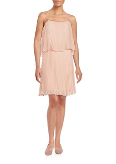 ABS Pleated Popover Dress