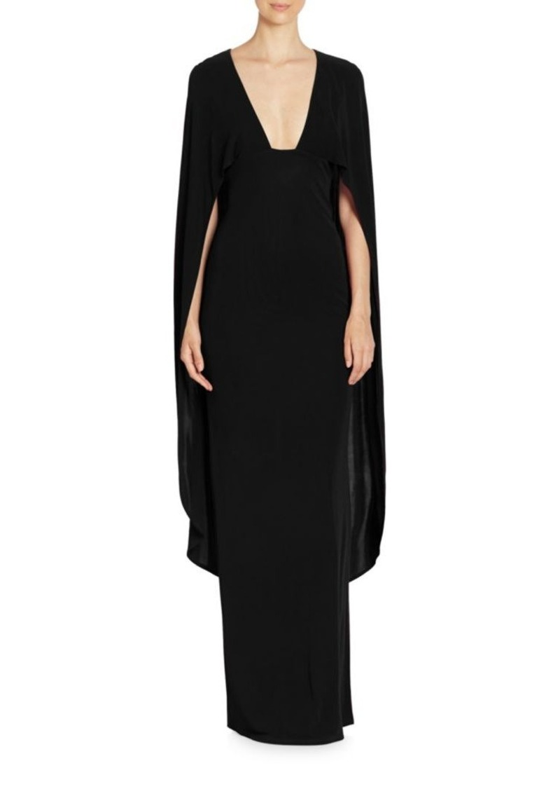 bee69d8c98 ABS ABS Plunging V-Neck Cape Gown