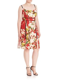ABS, Plus Size Digital Floral Sundress