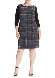 ABS, Plus Size Plaid Shift Dress