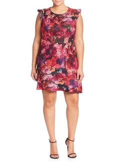 ABS Plus Floral Printed Dress