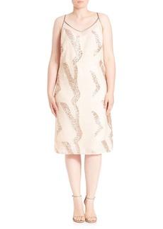 ABS Sequin Midi Dress