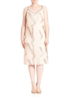 ABS, Plus Size Sequin Midi Dress