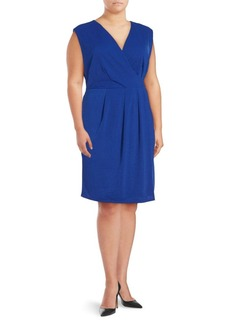 ABS, Plus Size Solid Sleeveless Dress