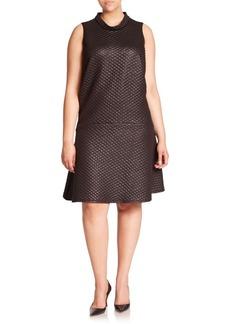 ABS, Plus Size Textured Drop-Waist Dress