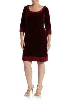 ABS, Plus Size Velvet Shift Dress
