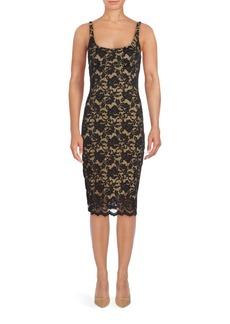 ABS Scoopneck Lace Y-Line Dress