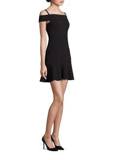 ABS Scuba Cold-Shoulder Dress