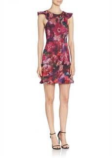 ABS Sleeveless Floral Printed Dress