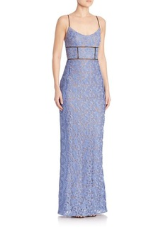 ABS Sleeveless Lace Gown