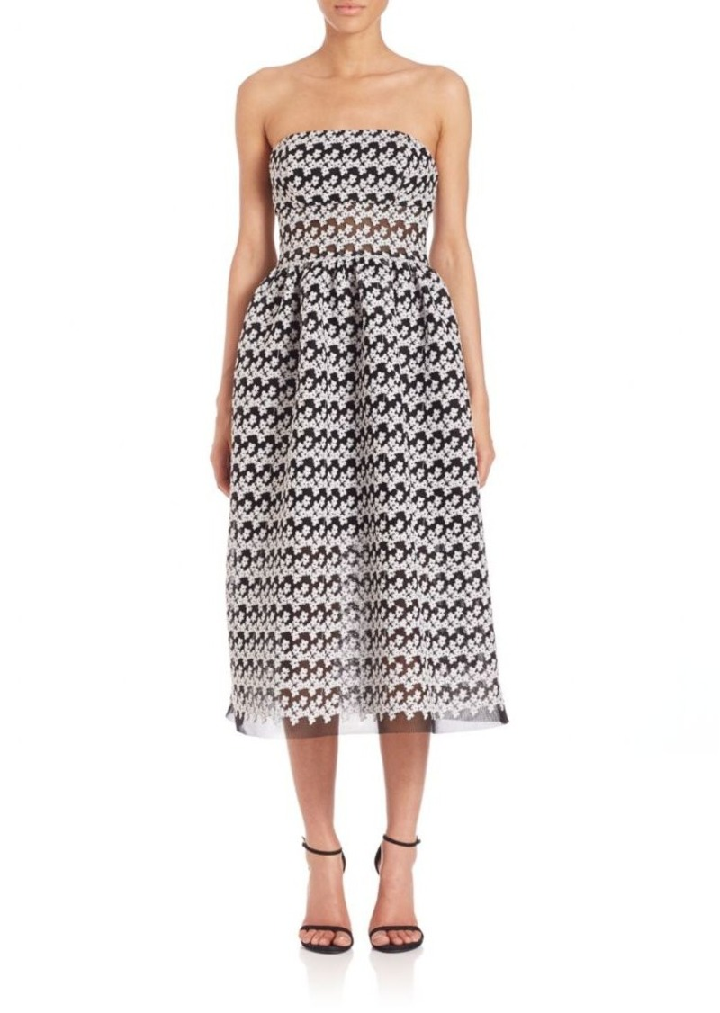 ABS Strapless Cocktail Dress