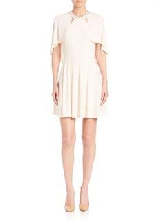 ABS Studded Cape Dress