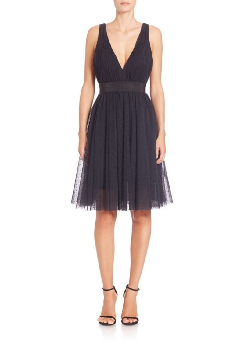 ABS Tulle Fit-&-Flare Cocktail Dress
