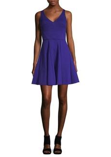 ABS V-Neck Fit-&-Flare Dress