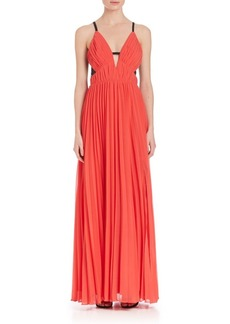 ABS V-Neck Gown