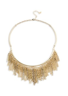 ABS Chain and Pave Fringe Frontal Necklace