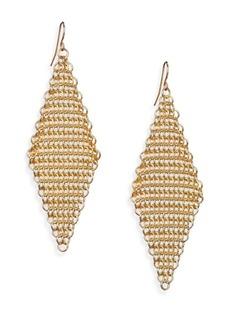 ABS Chain Mesh Drop Earrings