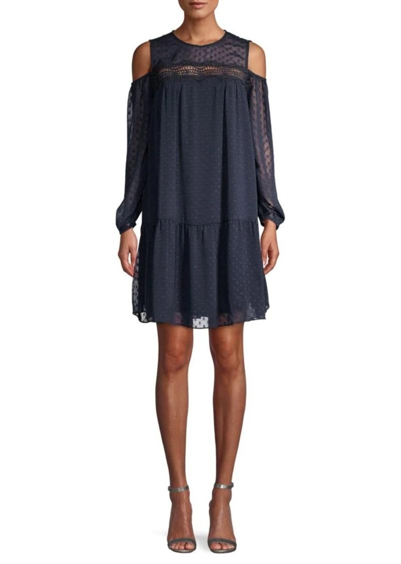 ABS Cold-Shoulder Mini Dress