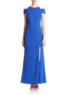 ABS Cut-Out Crepe Gown