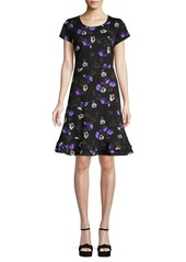 ABS Floral A-Line Dress