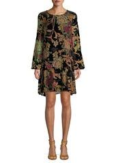 ABS Floral-Print Mini Dress