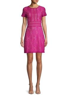 ABS Geometric Lace Mini Dress