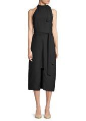 ABS Halterneck Midi Dress