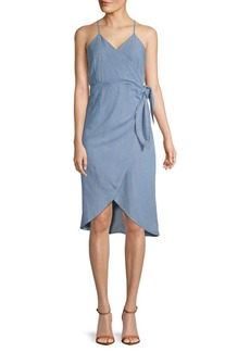 ABS Hi-Lo Wrap Dress