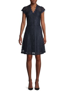 ABS Lace Fit-&-Flare Dress