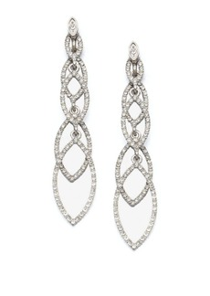 ABS Navette Linear Drop Earrings