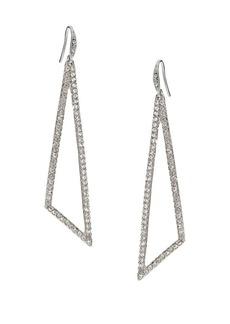 ABS Pavé Triangle Drop Earrings