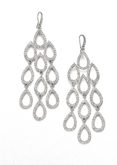 ABS Pave Chandelier Earrings