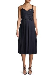 ABS Pleated Midi Dress
