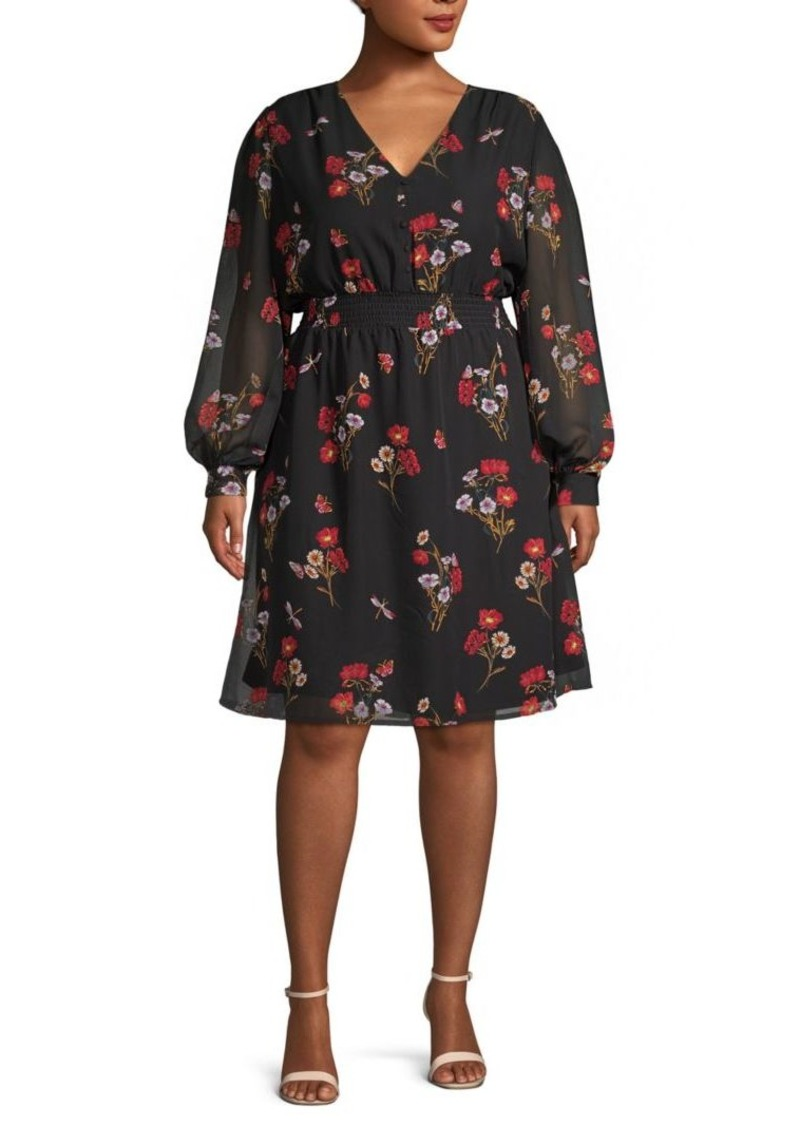 ABS Plus Floral A-Line Dress
