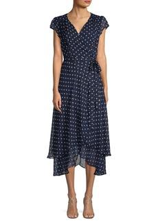 ABS Polka Dot Midi Dress