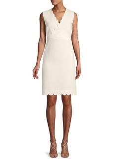 ABS Scalloped Sheath Dress