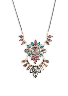 ABS Stone-Accented Statement Necklace