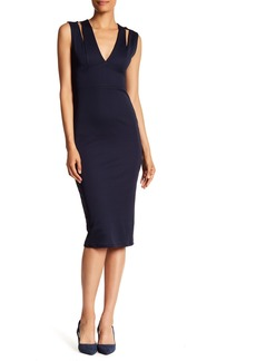 ABS V-Neck Sheath Dress