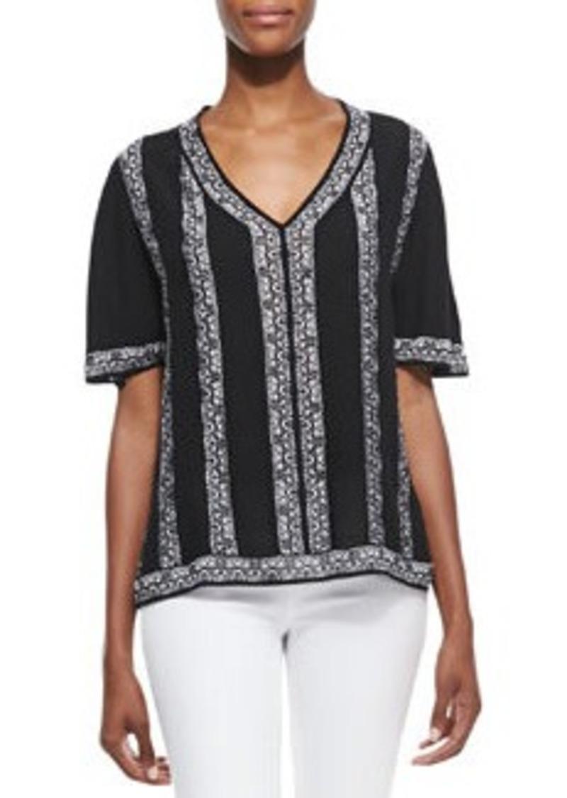Nanette Lepore Sangria Knit V-Neck Top   Sangria Knit V-Neck Top