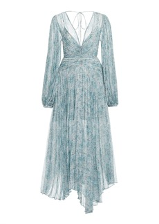 Acler - Women's Astone Floral Plisse Handkerchief Dress - Blue - Moda Operandi