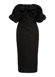 Acler - Women's Fields Off-The-Shoulder Pencil Dress - Black/gold - Moda Operandi