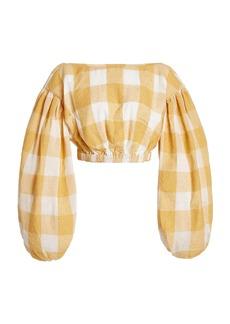 Acler - Women's Sutherland Checked Woven Crop Top   - Plaid - Moda Operandi