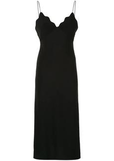 Acler Aviel scalloped slip dress